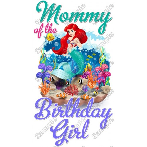 Ariel The Little Mermaid Birthday Custom Personalized Shirt Iron On Transfer 1 By