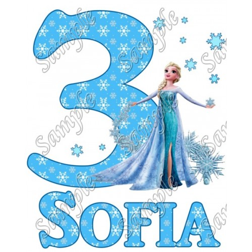 Frozen Elsa Personalized Birthday Iron on Transfer Decal ~#36 (Frozen) by  www topironons com
