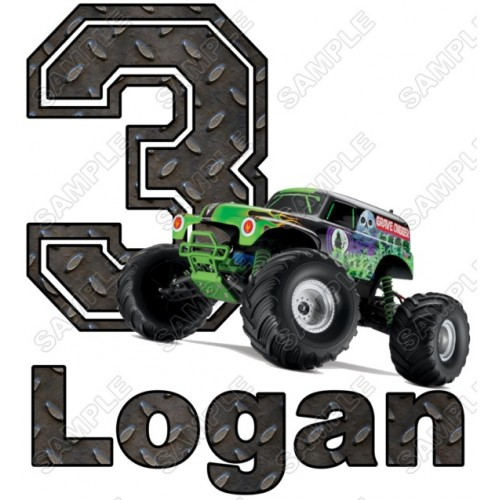 Grave Digger Monster Truck Birthday Personalized Custom