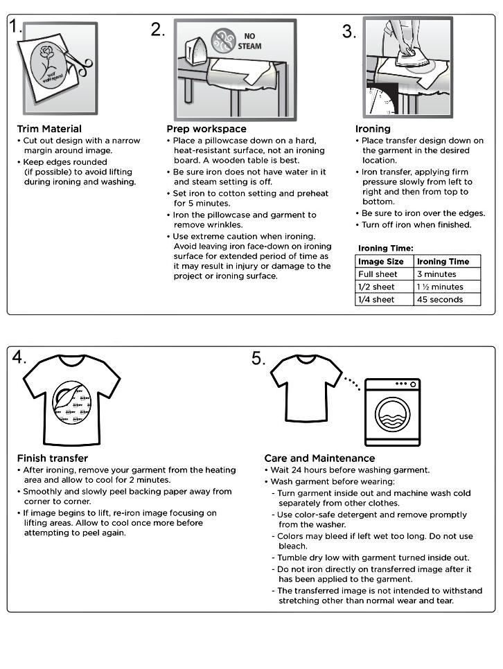 how to use iron on transfers for dark fabrics